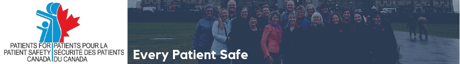 Patients for Patient Safety Canada logo - web banner