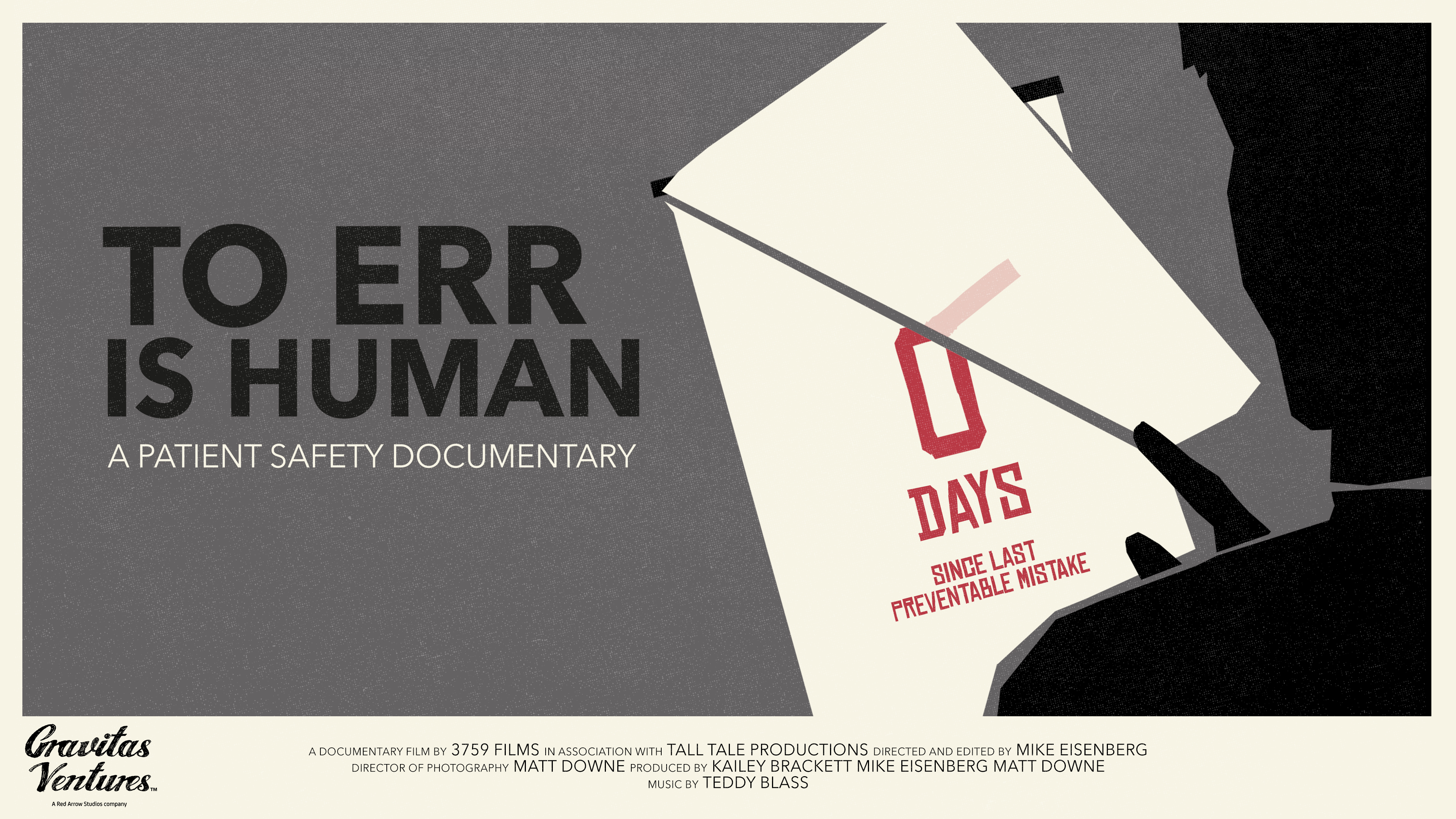 Advertising for To Err is Human Documentary