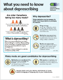 Fact sheet on deprescribing