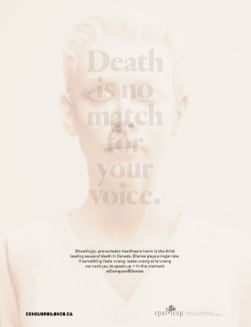 Death is no match for your voice
