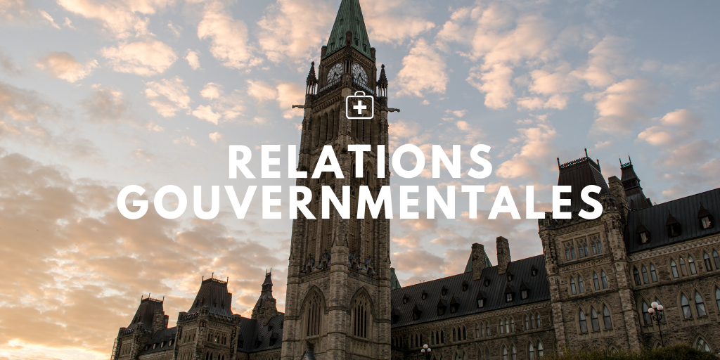 Page Banner of Parlaiment Hill with text that reads Government Relations