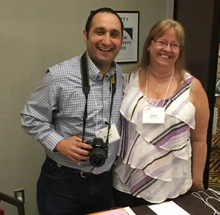 Janet Bradshaw (right) with Abisaac Saraga at a Patients for Patient Safety Canada meeting